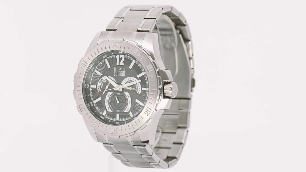 b22b9b8d38a Relógio Dumont Masculino Garbo DU6P29ABS 3C - Eclock - YouTube