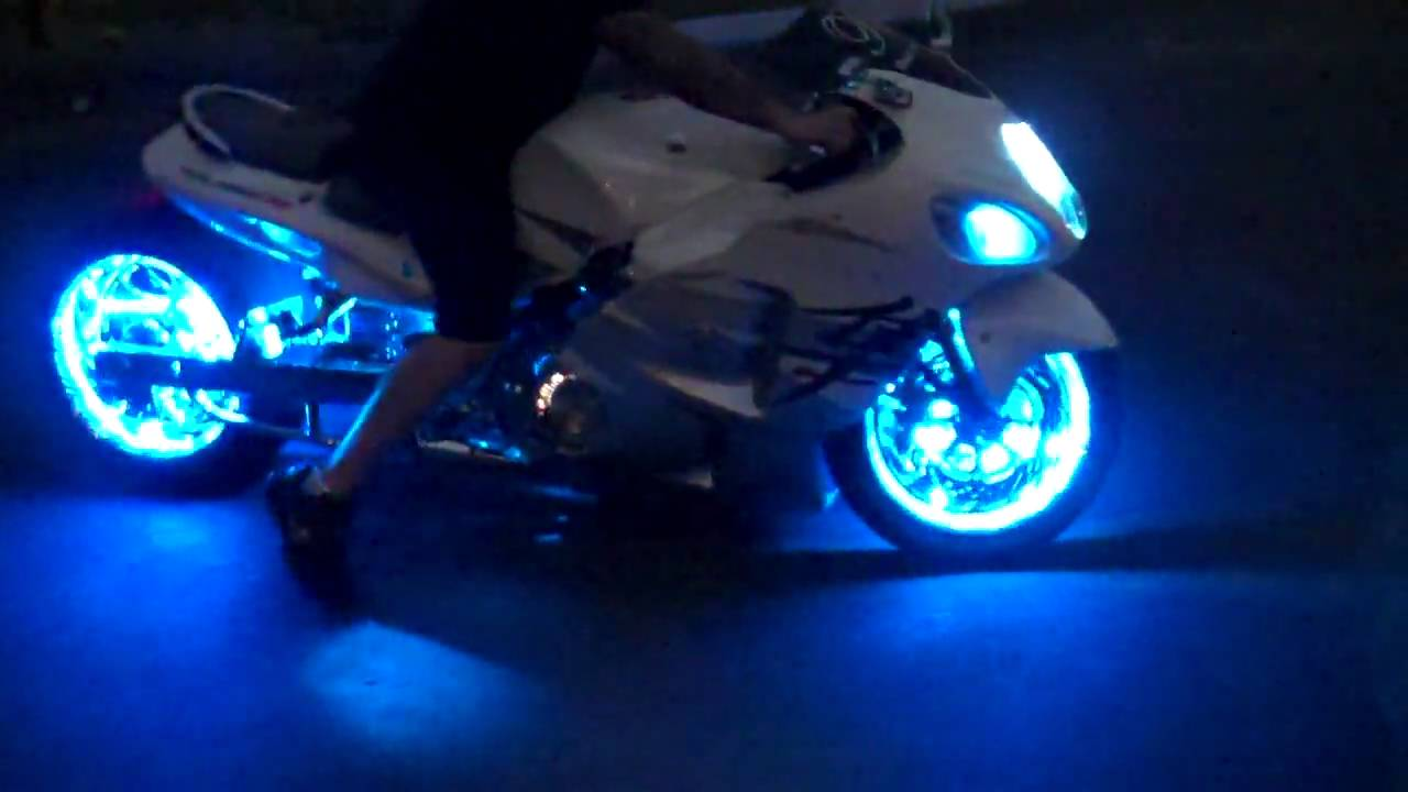 motorcycle trick led lights by all things chrome youtube. Black Bedroom Furniture Sets. Home Design Ideas