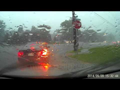 Driving in Heavy Rain - Omaha, NE