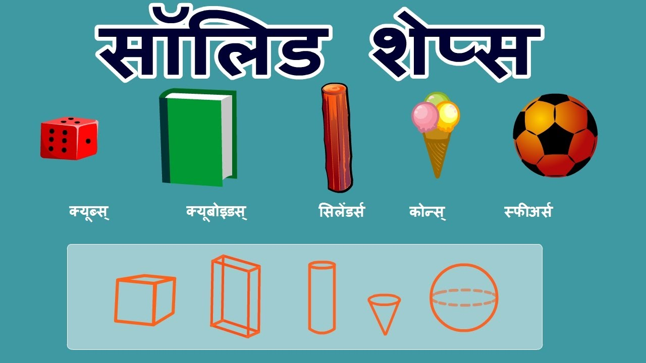 Solids Shapes -Primary Maths Geometry Video in Hindi - YouTube