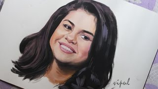 Hi all rs and selenators , this is my art tutorial on making painting of big singer selena gomez connect me facbookhttps://www.facebook.com/vipul.p...