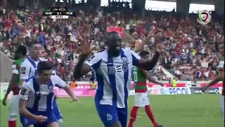 Goal | Golo Marega: Marítimo 0-(1) FC Porto (Liga 17/18 #32)