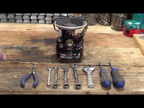 How to disassemble a Coleman Feather 400B single burner stove