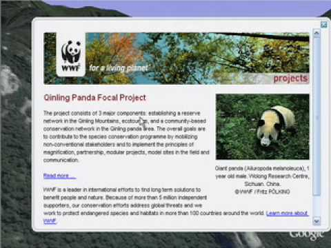 WWF Conservation Projects in Google Earth