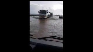 Capoterra, La SS 195 è allagata: il terrore dei viaggiatori durante i soccorsi