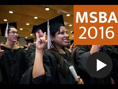 Master of Science in Business Analytics Commencement 2016