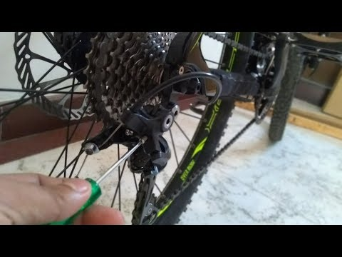 How to Adjust Bicycle Gears   MTB Gear Setting , Problem?   Hindi
