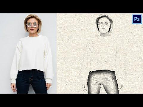 Как Сделать из Фото Рисунок Карандашом в Фотошопе | Урок #12