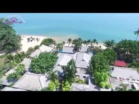 Khwan Beach Resort. OFFICIAL. Luxury Pool Villas Hotel,  Ko Samui, Thailand. Aerial