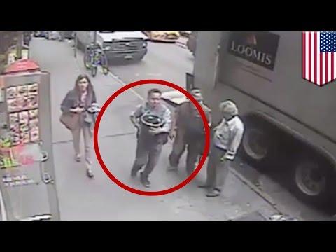 New York thief steals $1.6m bucket of gold from armored truck parked in Manhattan - TomoNews