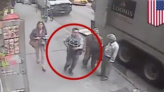 New York thief steals $1.6m bucket of gold from armored truck parked in Manhattan - TomoNews