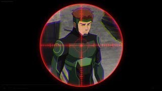 Aim,Shoot,that's enough/Nightwing uses a gun/Young Justice outsiders