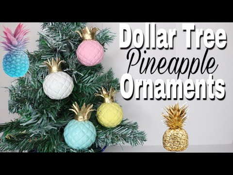 dollar tree diy pineapple christmas ornaments