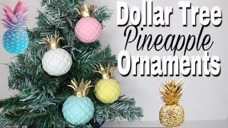Dollar Tree DIY Pineapple Christmas Ornaments |