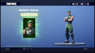 Fortnite New Garrison Skin