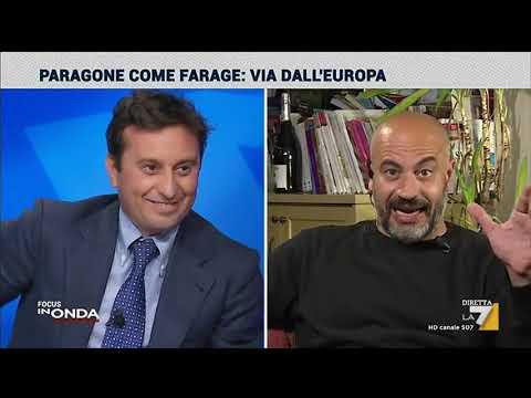 Euro, il faccia a faccia Parenzo-Paragone