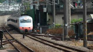 [HD] The Taiwan TRA up Tzu-Chiang Limited Express Train E1000 train no. 1020 pass the Sanyi Station