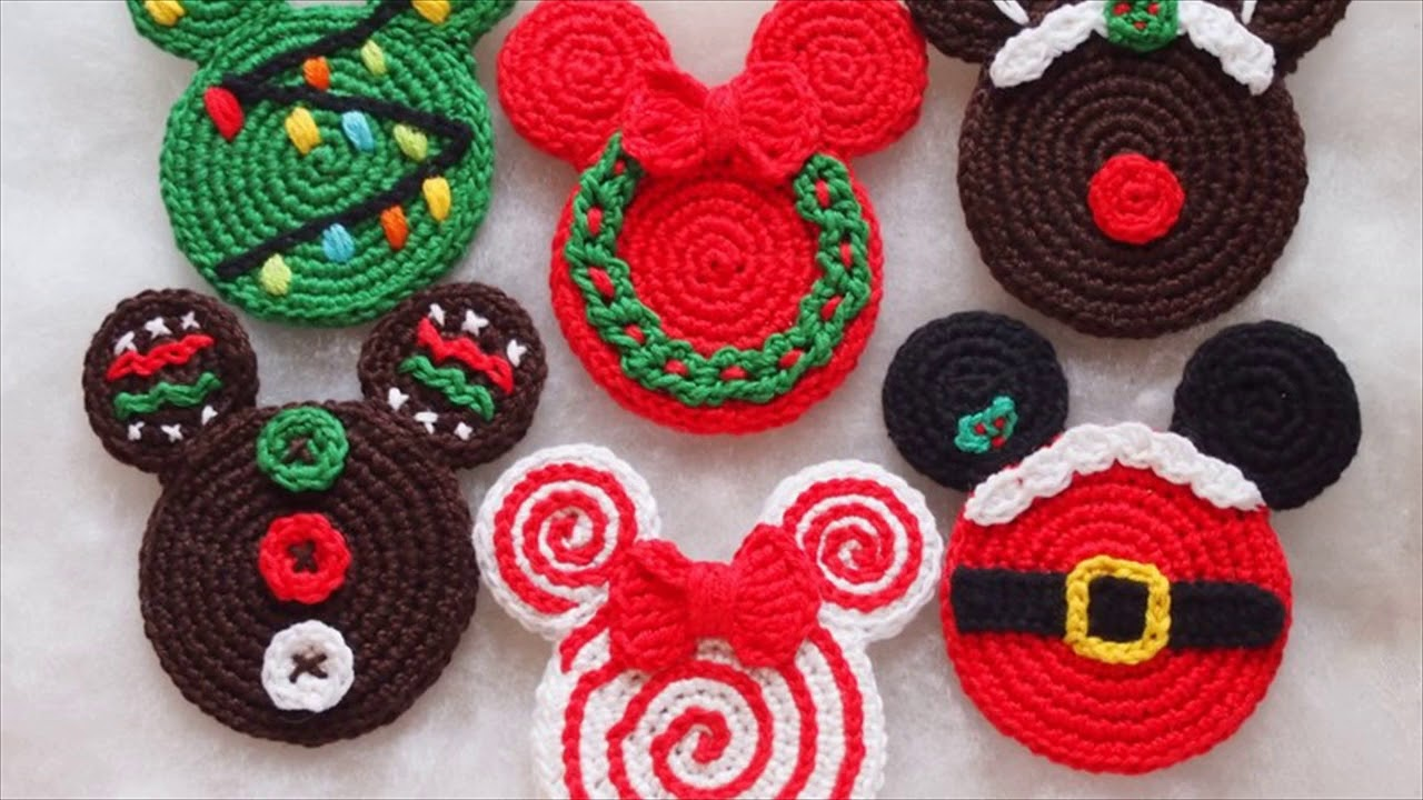 Crochet Christmas Wreath Ornament Pattern - YouTube