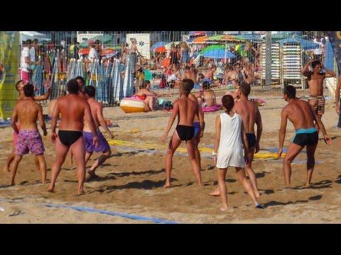 Beach Volley in Lloret de Mar, Catalonia, Spain