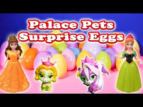 SURPRISE EGGS Disney Princess Palace Pets Toys TheEngineeringFamily Surprise Video