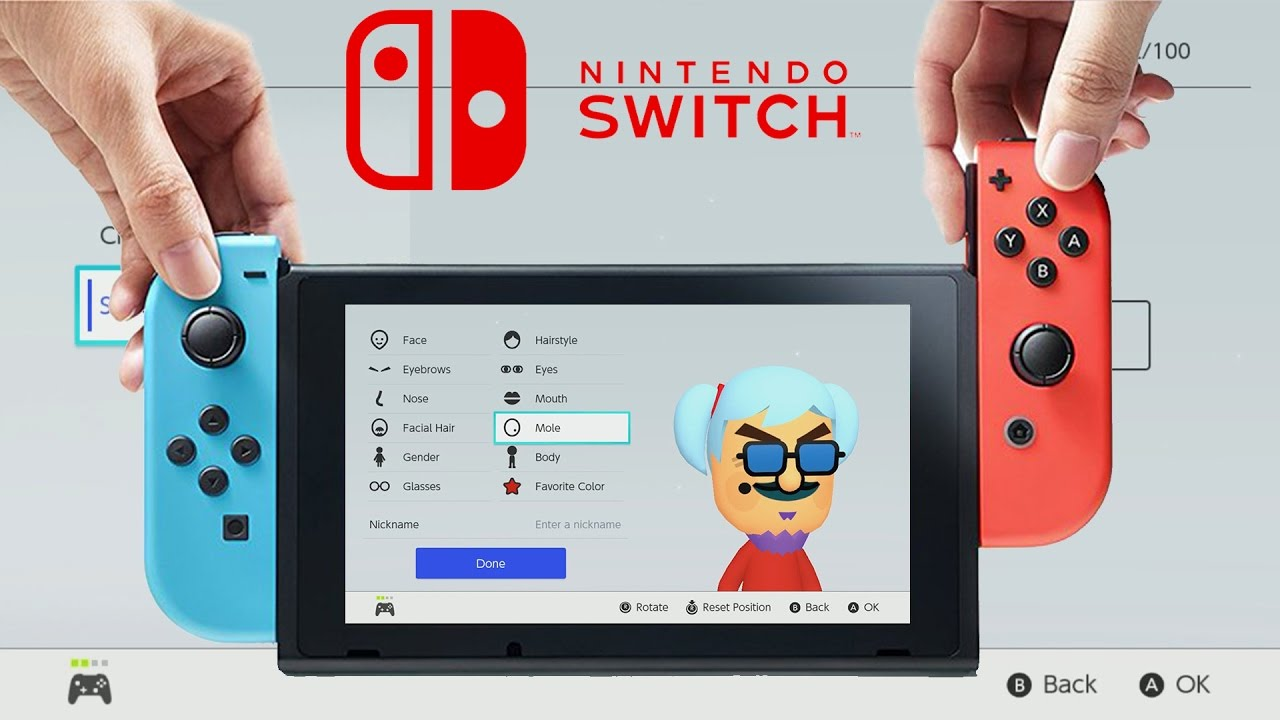 Nintendo Switch Mii Maker Adds Loads Of New