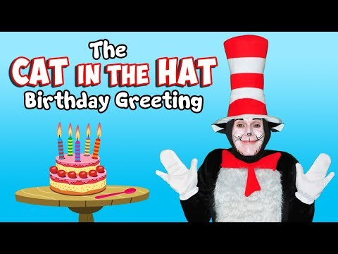 A Cat In The Hat Birthday Greeting Las Vegas Party Ideas
