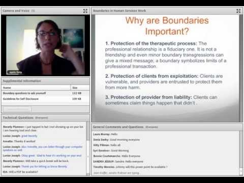 Boundaries in Human Services Webcast
