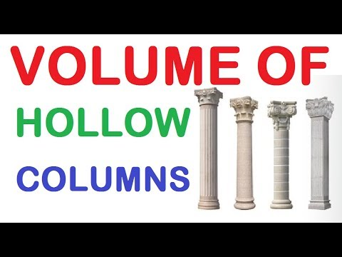 How To Calculate Volume Of Hollow Column By Learning Technology