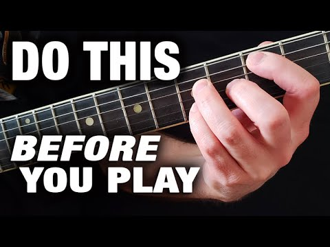 Always Do This BEFORE Playing Guitar! (HUGE DIFFERENCE)