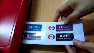 M&B Enterprise White Name Tag Making Process