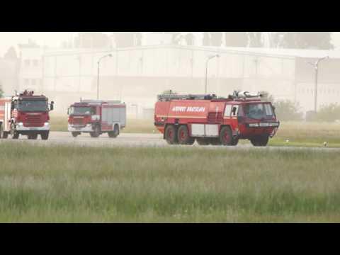 Emergency drill TU-154 @ Bratislava Airport