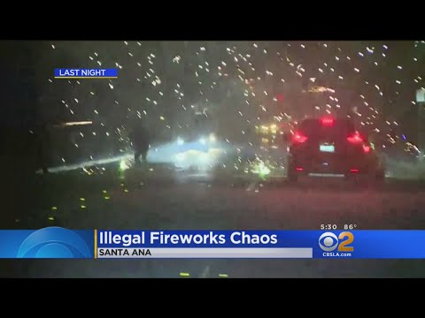 Illegal Fireworks In Santa Ana Cause Combat-Like Atmosphere