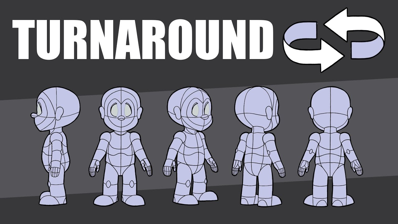 2d animation-master the character turnaround & model sheet - youtube