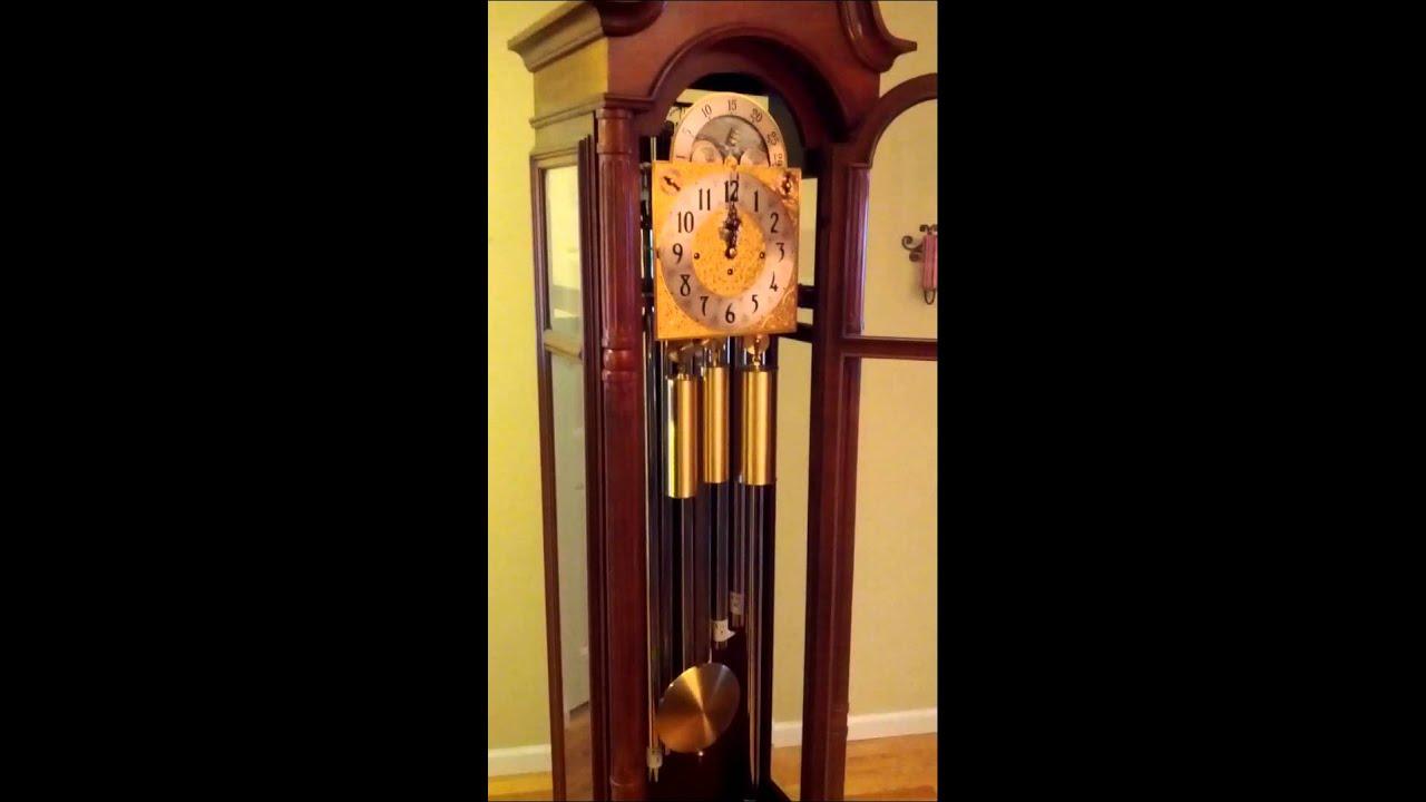 herschede grandfather clock youtube. Black Bedroom Furniture Sets. Home Design Ideas