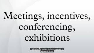 Meetings industry explained  - Audiopedia