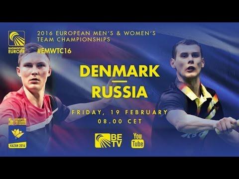 Badminton - Astrup / Rasmussen (DEN) vs Dremin / Kuznetsov (RUS) - QF, EMTC 2016