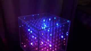 RGB 8x8x8 LED cube (светодиодный куб)(This cube uses a 8x8x8 matrix of RGB LEDs. This is a not good idea to experiment with as the number of LEDs required at 512, it take too long to assemble and ..., 2015-10-21T19:24:44.000Z)