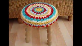 Очаровательные накидки или коврики на стул крючком