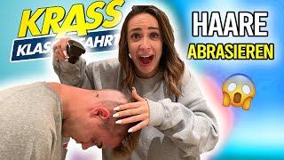 Krass Klassenfahrt VLOG - Jonas Ems und AlexV rasieren sich die Haare | Jennifer Saro