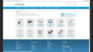 CommScope Website Tutorials