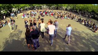 Pharrell Williams - Happy | Flashmob for Dennis | Amsterdam Amstelveld