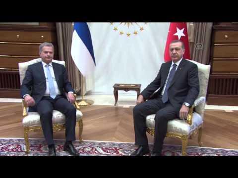 Finland's President Sauli Niinisto in Ankara