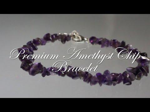 Premium Amethyst Chip Bracelet- Reiki Attuned Healing Bracelet