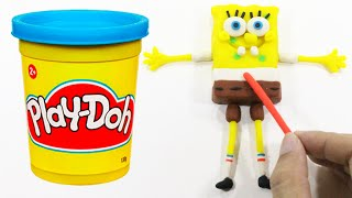 Stop Motion Spongebob Squarepants Play Doh Clay Animation [4K]
