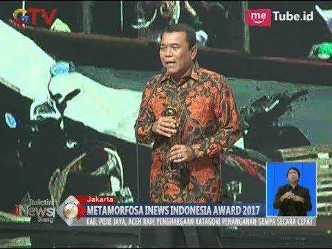Bupati Pidie Jaya Aceh Meraih Penghargaan di Acara Metamorfosa iNews Award 2017 - BIS 07/11