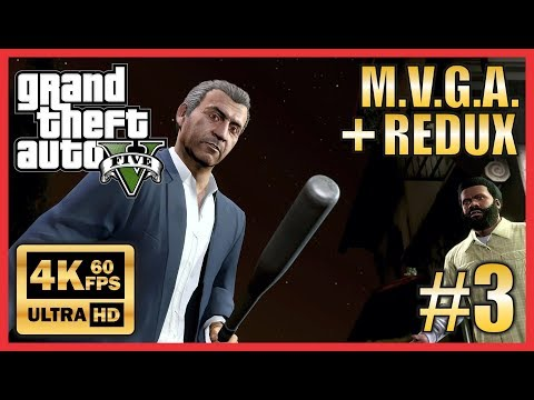 GTA V Make Visuals Great Again + Redux Story Mode 4K 60fps Part 3 Marriage Counseling/Pulling Favors