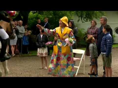 Queen Margrethe receives