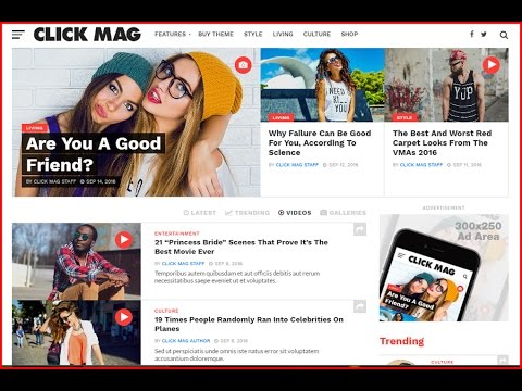 How To Make Wordpress Viral Blog Website - Click Mag Viral WordPress News Magazine Blog Theme Set Up