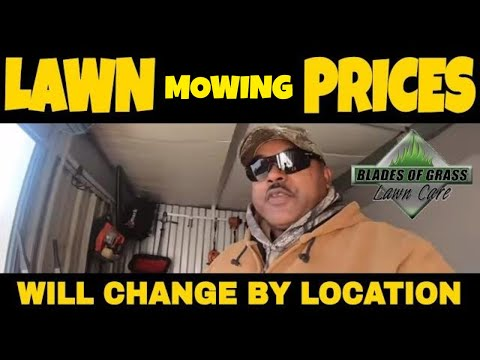Lawn mowing prices change by location - Enclosed trailer repair - Two flat tires in one hour