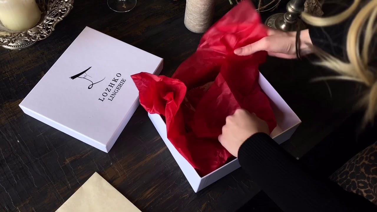 Как упаковать женское белье в подарок прозрачные женские стринги купить